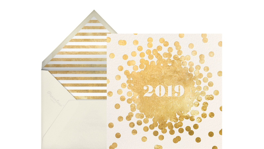 Kate Spade Christmas Cards 2019.New Year Cards Online At Paperless Post